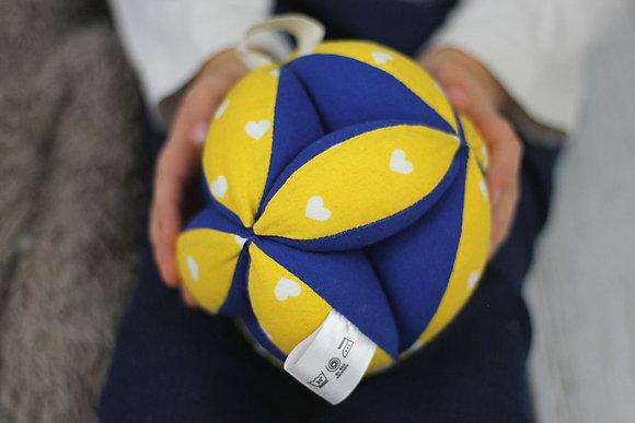 Balle de préhension Montessori Jaune & bleu