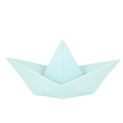 Lampe grande veilleuse ORIGAMI bâteau unie Bleu tendre