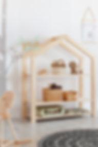 Etagère cabane Maison montessori autonomie