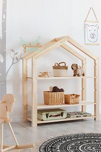 étagère cabane maison montessori