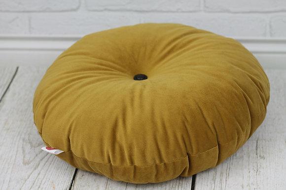 Grand coussin de sol pour enfant Moutarde