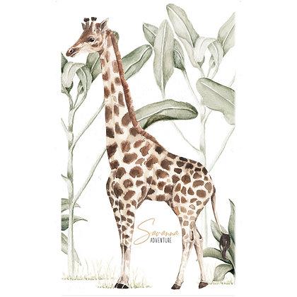 Sticker Girafe de la savane