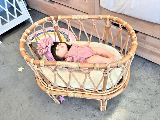 Lit de poupée en Rotin Denise
