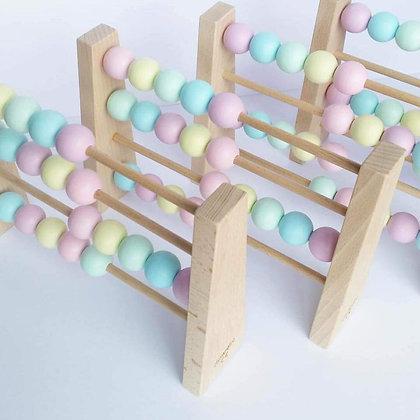 Boulier en Bois Montessori Pastel Multicolor