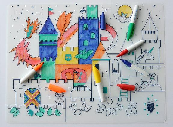 Set de Table coloriage infini Château
