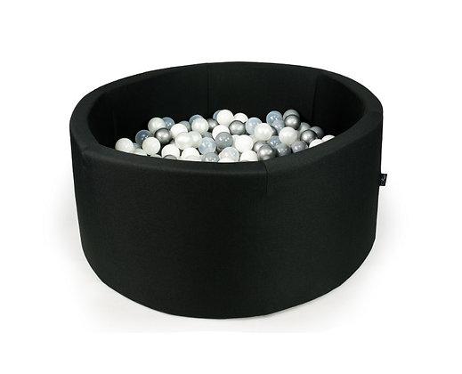 Piscine à balles noire 90x40cm avec 250 balles