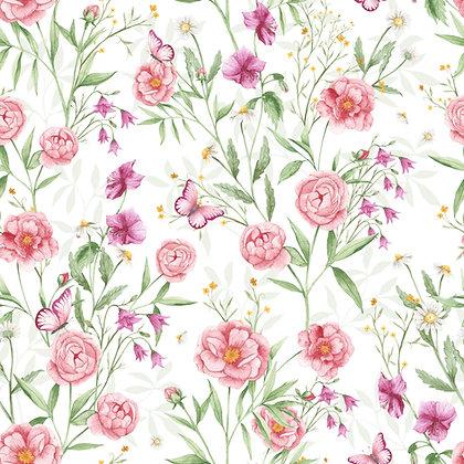Tour de lit tressé 3 grains motif jardin d'hiver à personnaliser