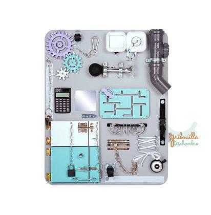 """Tableau d'activité """"Busy Board"""" Standard Gris et violet"""