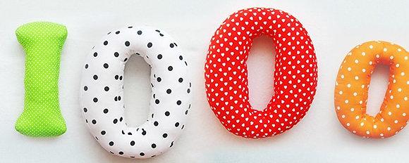 O : Lettre géante en Coton