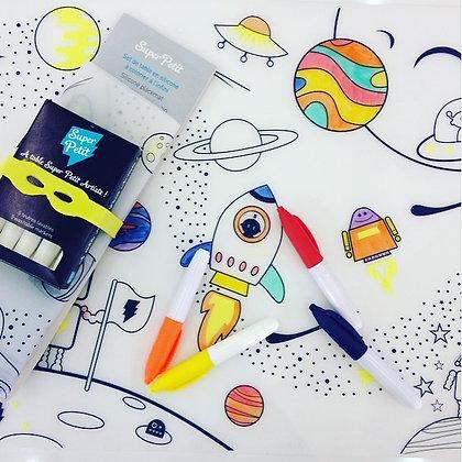 Set de Table coloriage infini Voyage dans l'Espace