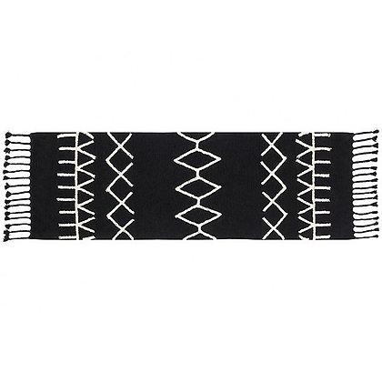 Tapis lavable noir Motifs géometriques Berbere Lorena Canals 80x230
