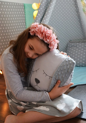 Coussin tendre Lapin Gris