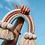 Thumbnail: Arc en ciel en Macramé poudré