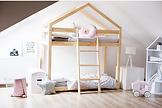 lit cabane maison superposé double chambre enfant bébé place en hauteur