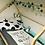 Thumbnail: Tour de lit tressé 3 grains Mint blanc et gris