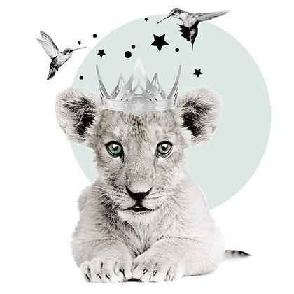 Magnifique Sticker Lionceau Royal