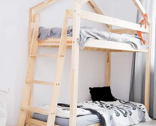 Lit cabane maison dedans lit cabane déco gribouille ta chambre lit maison a étage