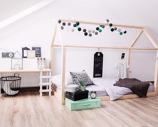 Cadre maison au sol 100x200cm esprit montessori sans sommier