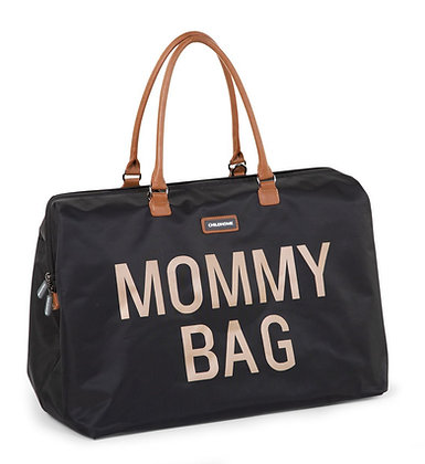 Grand sac weekend / sac à langer MOMMY BAG Noir
