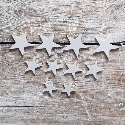 Jolies étoiles en bois