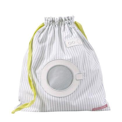 Sac à linge mouillé rigolo machine à Rayures grises