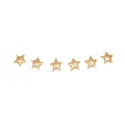 Guirlande d'étoiles merveilleuses or