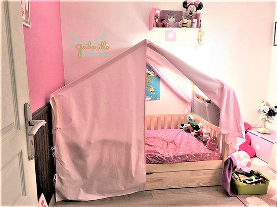 Habillage complet de lit cabane Pinède différents coloris