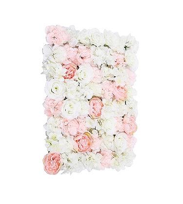 Cadre floral romantique rose