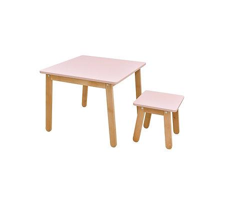 Table design bimatière Bois et laque mat Minidesk