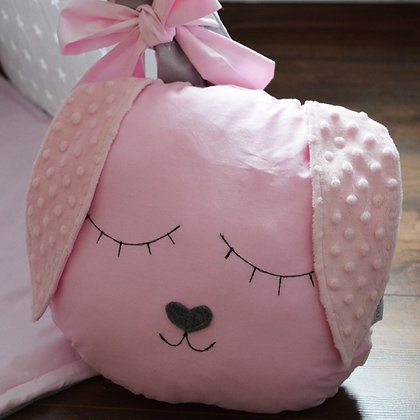 Coussin tendre Lapin Rose