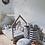Thumbnail: Lit Maison avec cheminée en Pin Naturel avec sommier à partir de