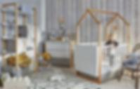 Lit cabane Maison de bébé évolutif design