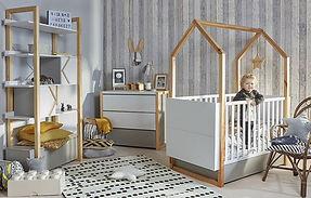 Lit Cabane Maison de bébé évolutif lit junior Contour