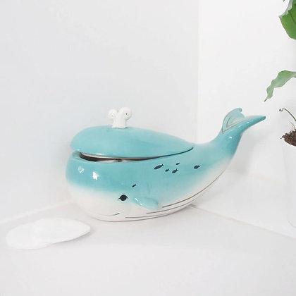 Belle boîte Baleine merveilleuse en céramique