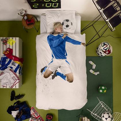 "Magnifique parure ""Fan de Foot"" Bleu"