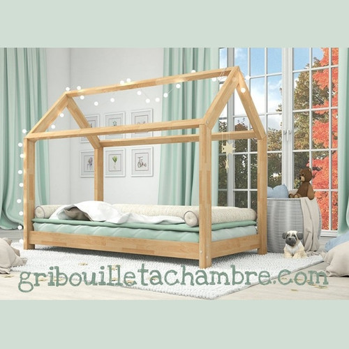 lit cabane montessori gribouille ta chambre. Black Bedroom Furniture Sets. Home Design Ideas