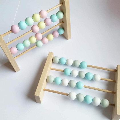 Boulier en Bois Montessori Pastel Bleu