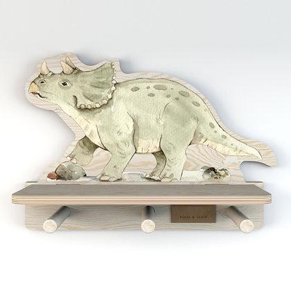 Table de chevet étagère porte manteaux Dinosaure