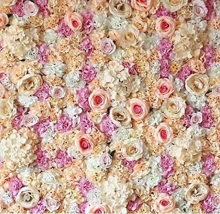 Cadre floral bohème rose