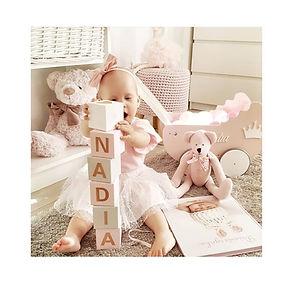 Cubes en bois montessori cadeau nassance jouet enfant bébé décoration chambre