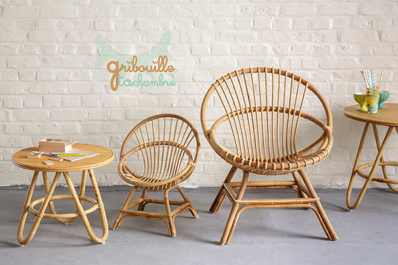 Grand Fauteuil en Canne naturelle