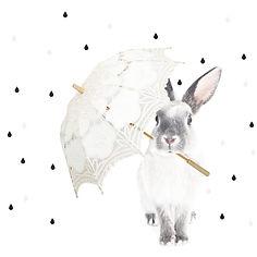 sticker lapin design dekornik chambre enfant