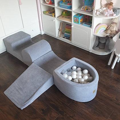 Parcours de motricité gris avec puits à balles Click & collect