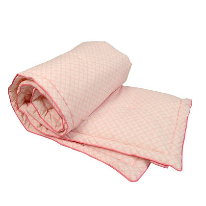 Edredon couverture moelleuse Rose layette