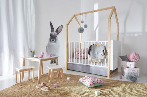 Lit cabane bébé évolutif gribouille ta chambre