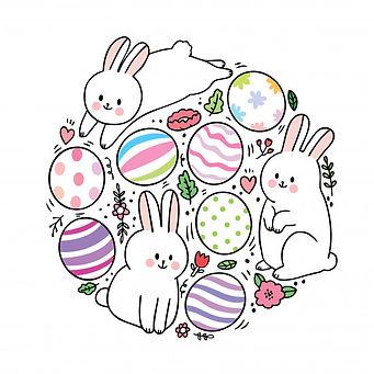 dessin-anime-mignon-lapins-du-jour-paque