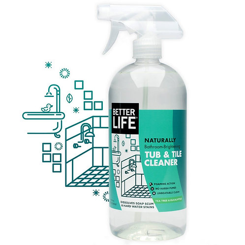 Better Life Naturally Bathroom-Brightening TUB AND TILE CLEANER