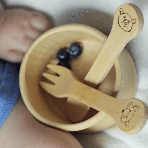 Kids Bamboo Utensil Set