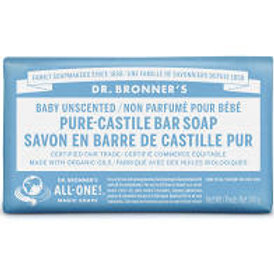 Dr. Bronner's Pure-Castile Baby Unscented Bar Soap