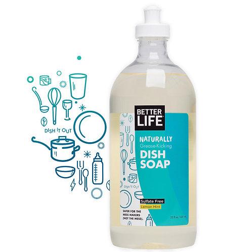 Naturally Grease-Kicking LEMON MINT DISH SOAP